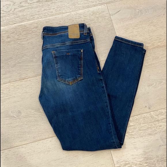 Zara Woman Blue Skinny Jeans - Size 6